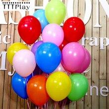 Siyah balon 50 adet 12 inç 2.2g düğün dekorasyon lateks balonlar mutlu doğum günü için şişme helyum parti balonlar malzemeleri