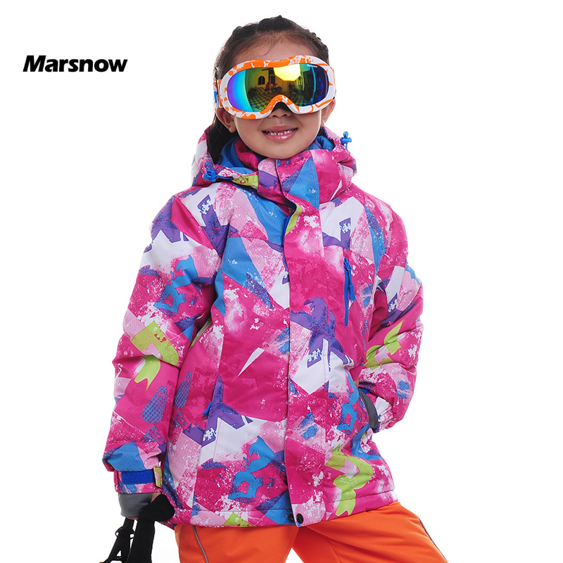 Marsnow Brand Winter Boys and Girls Children Ski Jackets Outdoor Snowboarding Waterproof  Hiking Skiing Windproof Coat Jackets 1pcs free shipping 2015 new autumn and winter tot solid color knitting wool hat boys girls ski cap children skullies beanies
