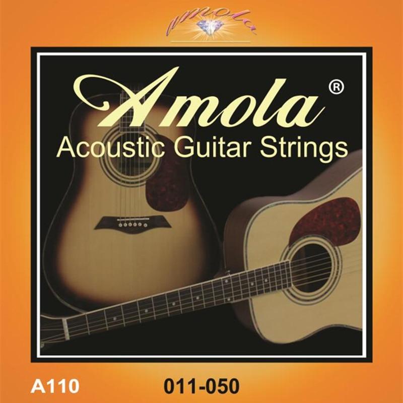 מקורי Amola A110 011-050 מחרוזות גיטרה אקוסטיות לחלקי גיטרה אקוסטית