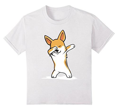 Supply New Spring High-elastic Cotton New Funny Brand Clothing Corgi Cute Dabbing T-shirt Funny Dab Dance Gift Tee Shirt T-shirts Tops & Tees