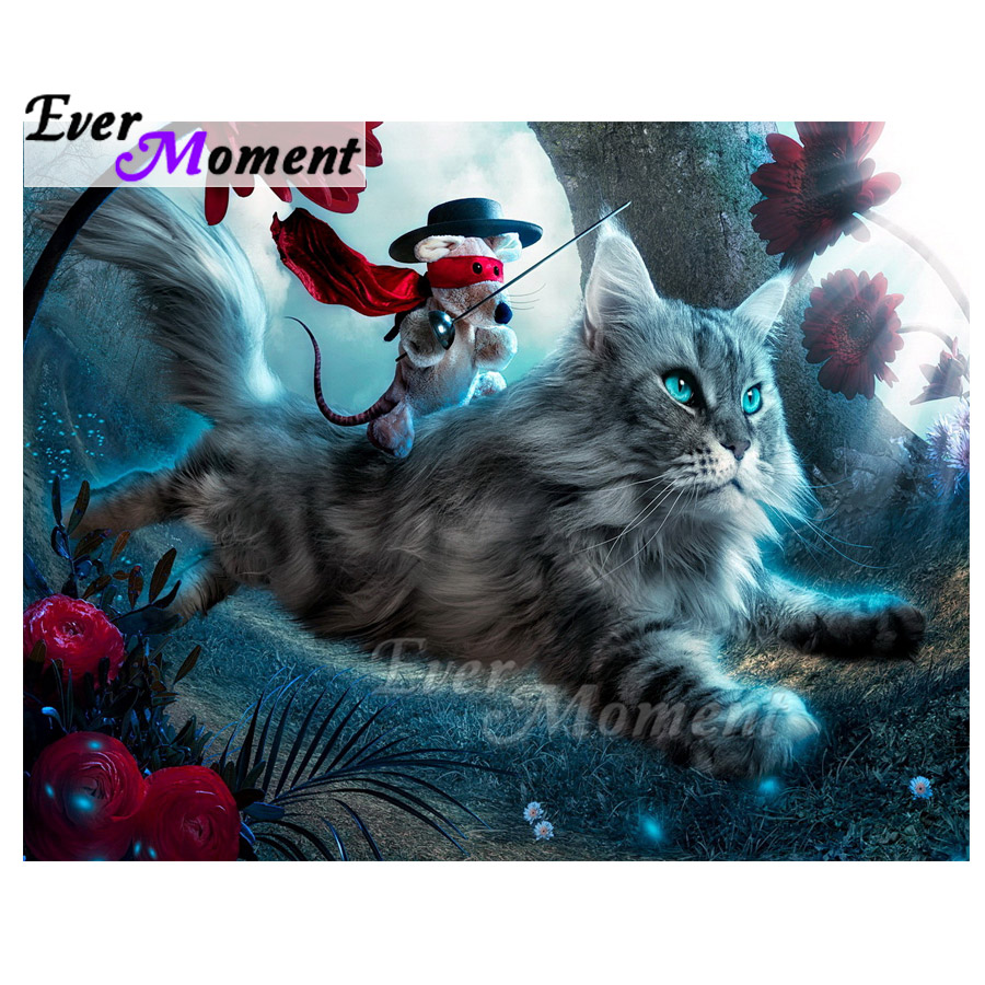 Ever Moment Diamond Painting Cat Forest Artwork Full Square Drill Picture Rhinestone Diamond Embroidery Cross Stitch S2F2141Ever Moment Diamond Painting Cat Forest Artwork Full Square Drill Picture Rhinestone Diamond Embroidery Cross Stitch S2F2141