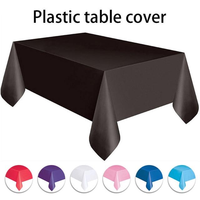 מוצק צבע 137x274 cm מפות חד פעמי אנטי שמן שולחן בד שולחן דקור לחתונה יום הולדת חדשה שנה מסיבת חג המולד