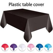 Manteles desechables de Color sólido, manteles antiaceite de 137x274cm para mesa, decoración para la mesa para boda, cumpleaños, Año Nuevo, fiesta de navidad