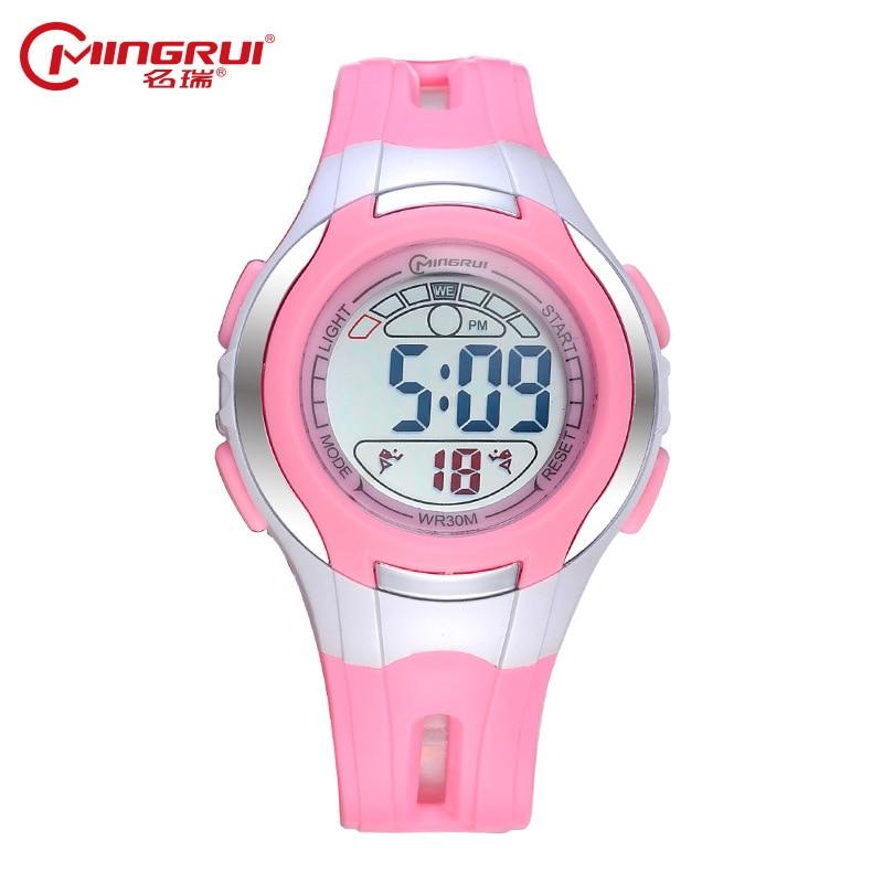 2019 Brand MINGRUI Children Waterproof Luminous Digital Watch Kids Silicone Sport Watches Students Alarm LED Watch Hour Clock