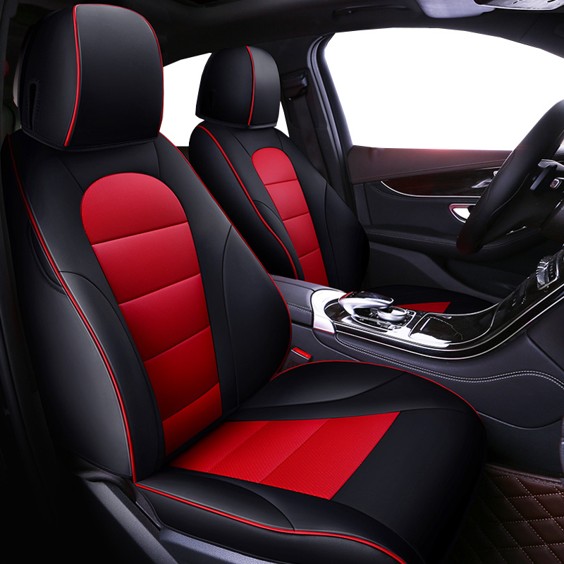 Cowhide Automobiles Auto Leather Set Car Seat Covers For