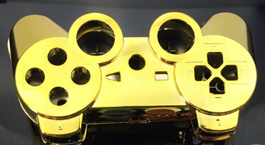 custom gold golden color shell for ps3 controller chrome gold golden shell mod kit without small - Manette Ps3 Color