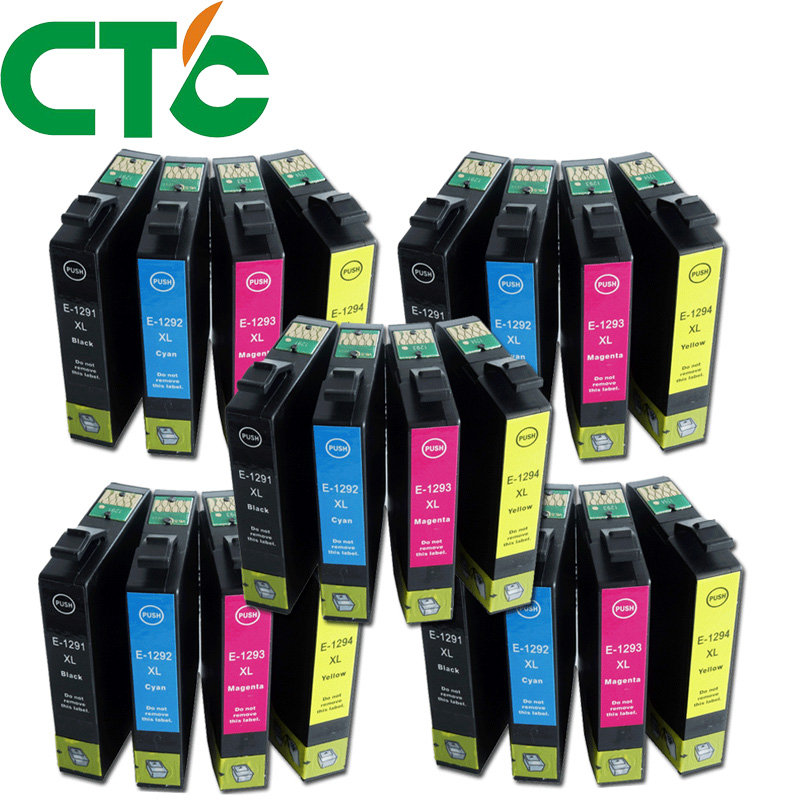 20 Pack T1291 Compatible Ink Cartridge for Epson Stylus SX230 SX235W SX420W SX425W SX430W SX435W SX438W SX440W