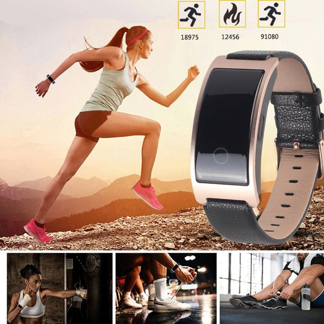 Waterproof Wristband Blood Pressure Oxygen Heart Rate Monitor Smart Watch