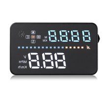 HUD Head Up Display OBDII Interface Engine Fault Alarm Dynamic Speed Easy to Install Plug And Play A3 Auto Car 3.5 Inch