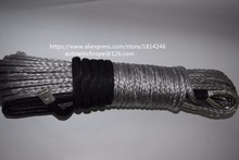 Free Shipping Grey 8mm*30m Winch Rope Extension,Off Road Rope,Coated Winch Cable,Kevlar Winch Cable