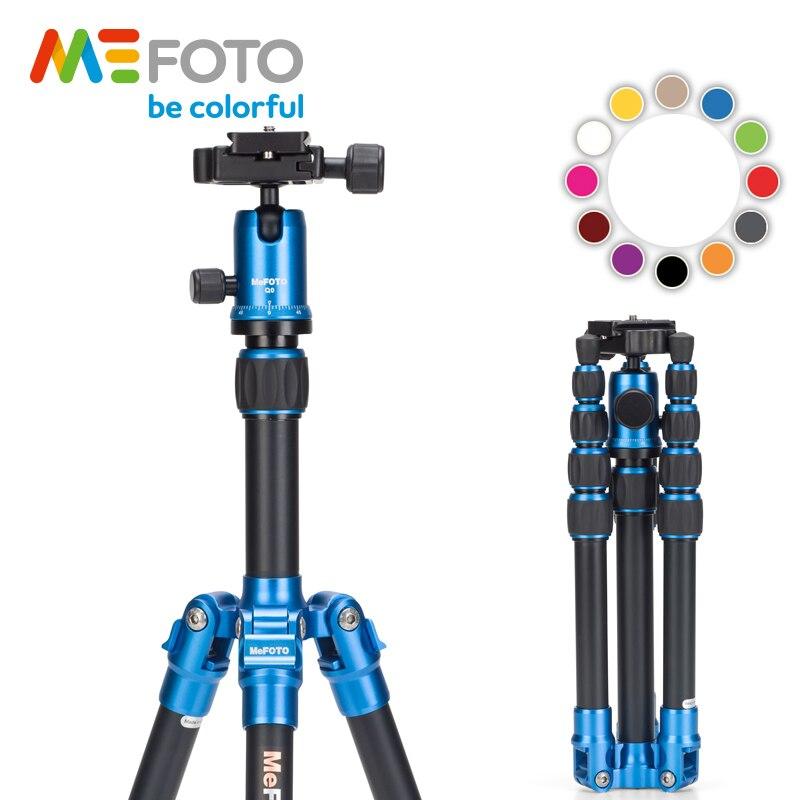 MeFOTO A0350Q0 туриста путешествия штативы Алюминий Профессиональный Камера держатели штативы шаровая Головка с 5 ю секциями сумка для треноги 12