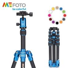 MeFOTO A0350Q0 BackPacker Travel Tripod Kits Aluminum Professional Camera Holder Tripods  Ball Head 5 Section Tripe Bag 12 Color