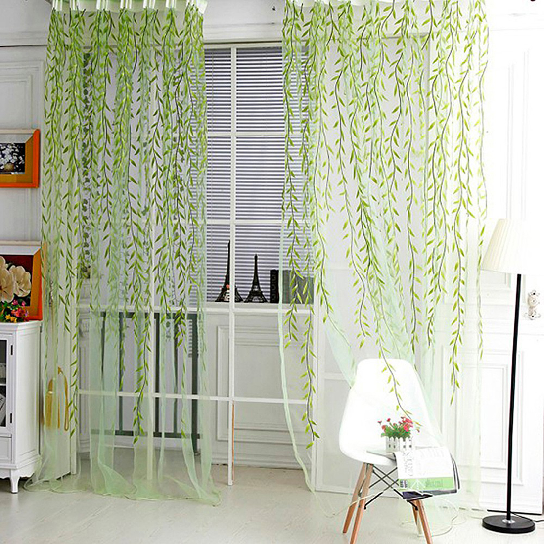 Lovely Wicker Tulle Voile Door Window Curtain For Living Room Drape Panel Sheer Scarf Valances Beautiful Design In Curtains From Home Garden On