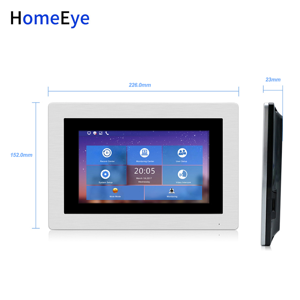 720P HD WiFi IP Video Door Phone Video Intercom (monitor Only) Works With Our Own System Only
