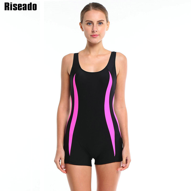 riseado 2017 brand women one piece swimsuit sport swimwear straight backless maillot de bain. Black Bedroom Furniture Sets. Home Design Ideas