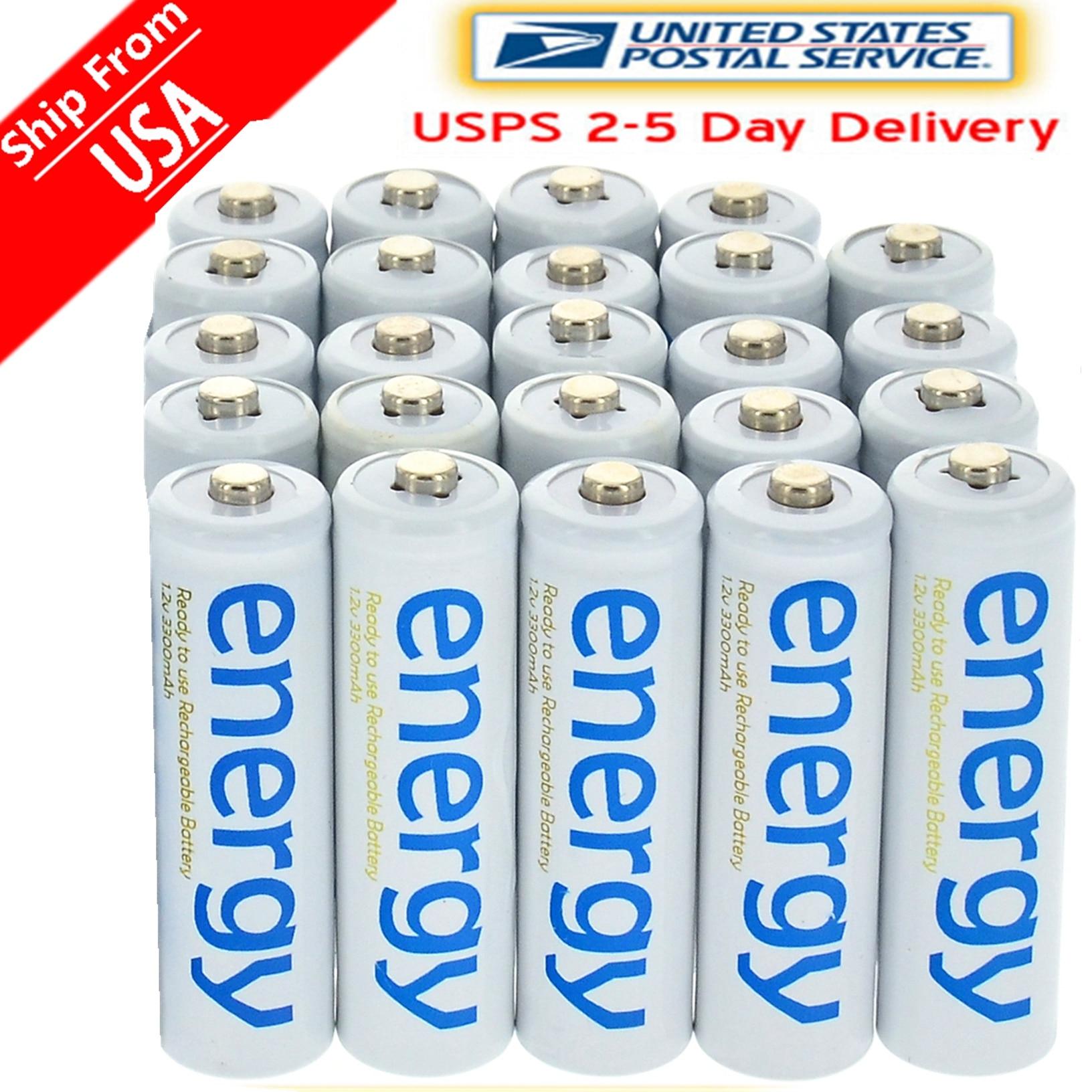 4/8/16/24/32/48/100 piezas 3300 mAh 1,2 V Ni-MH AA batería recargable blanco 2A energía para MP3 celular RC para linterna led linterna Juguetes