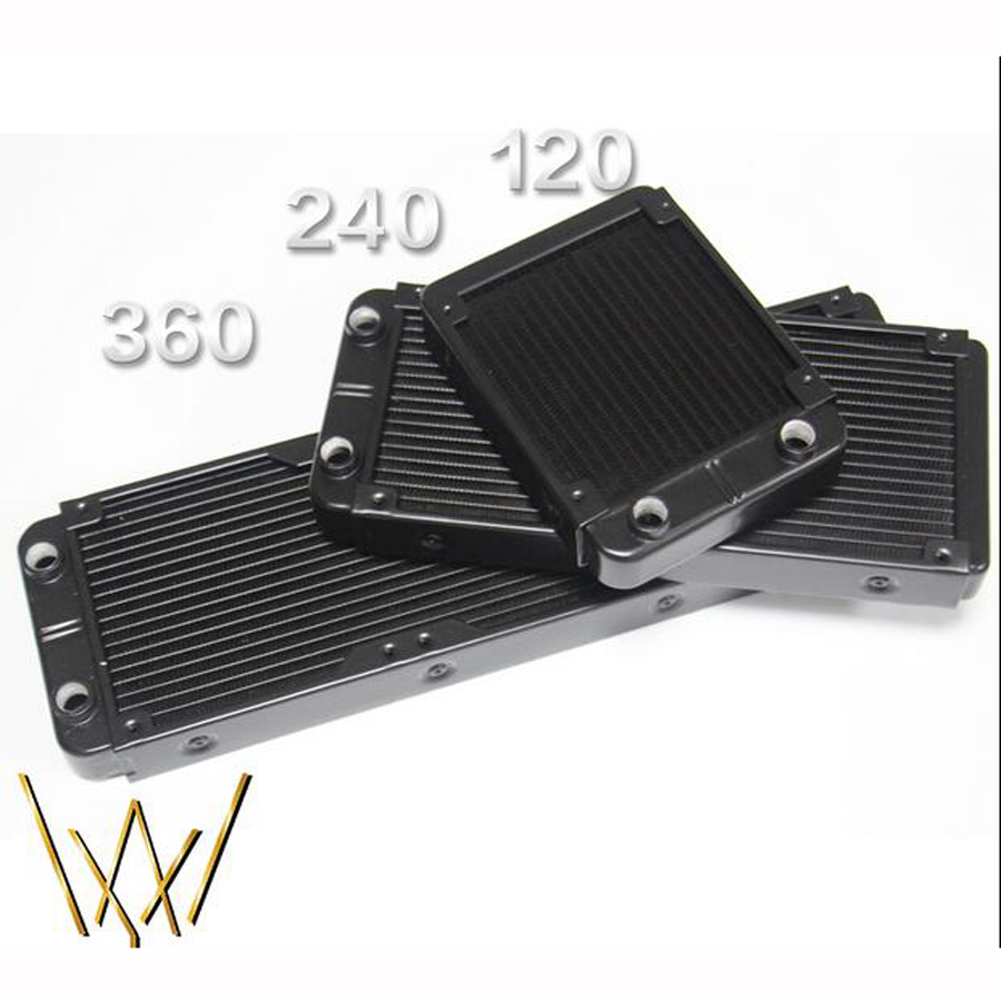 Aluminum Water Cooling 120 240 360 Radiator Liquid Cooler For 120mm Fan G1/4 heat exchanger cooled computer aluminum water cooling 120 240 360 radiator liquid cooler for 120mm fan g1 4 heat exchanger cooled computer