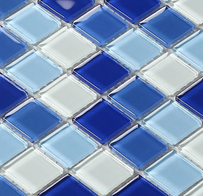 blue color crystal glass mosaic tiles HMGM2007B for swimming pool grooming table kitchen backsplash tile bathroom shower