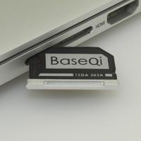 BaseQi Alüminyum Gizli Dahili Mikro SD macbook adaptörü Pro Retina 13 ''Model 303A Bellek kart okuyucu
