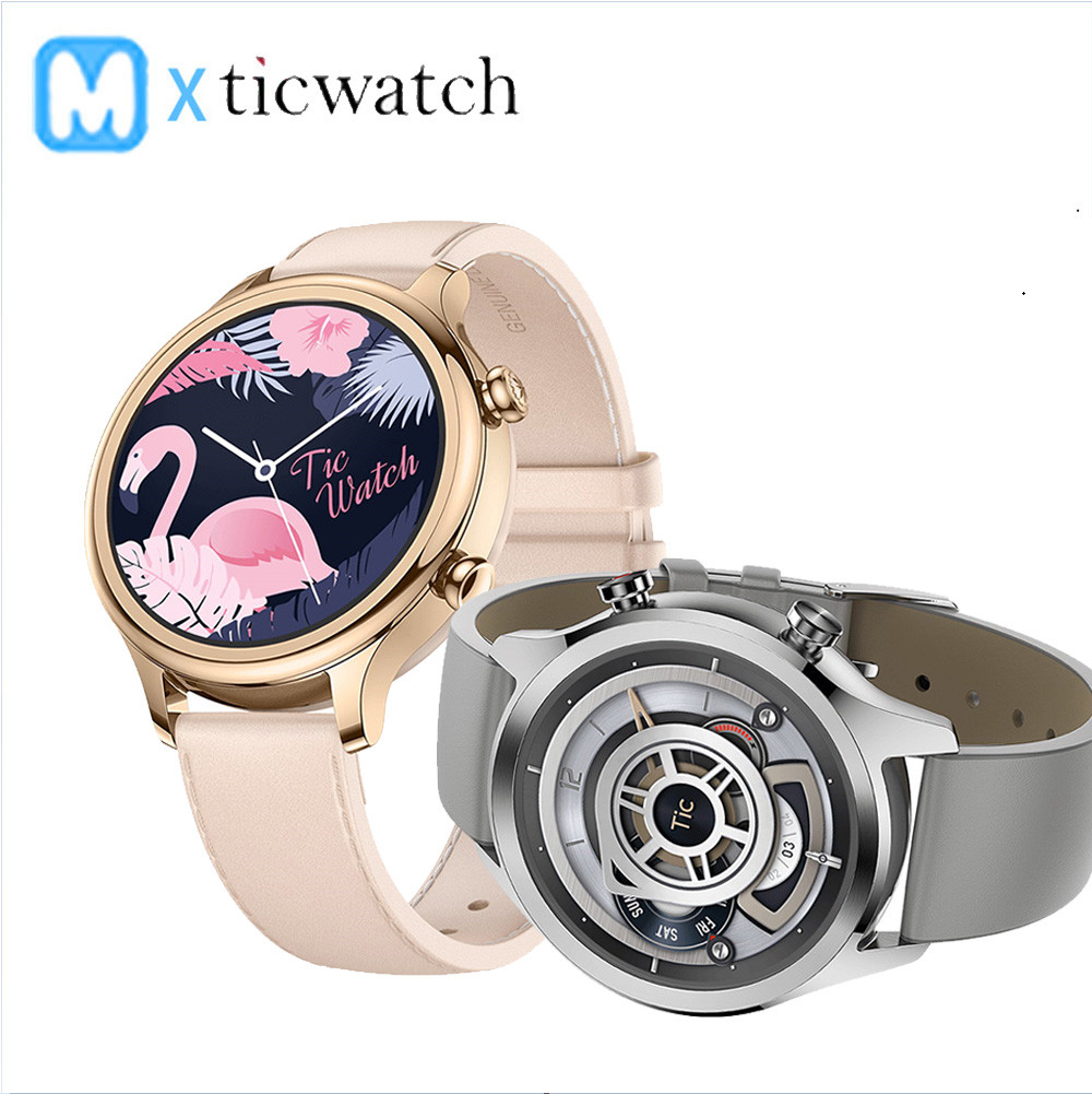[IN STOCK] Global Ticwatch C2 Android wear NFC Google Pay GPS Smart Watch IP68 Waterproof AMOLED smartwatchs for Men and Women