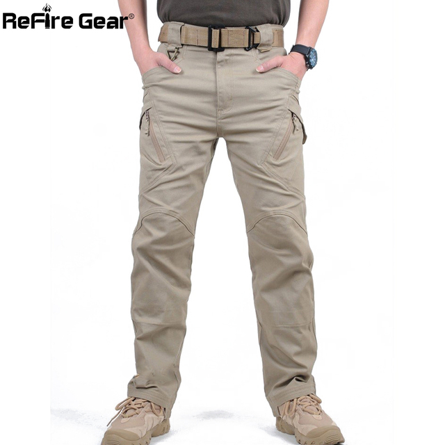 City Tactical Cargo Pants Combat SWAT Army Military Cotton Many Pockets Stretch Flexible Casual Trousers XXXL 1