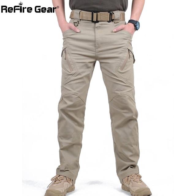 IX9 City Tactical Cargo Pants Men Combat SWAT Army Military Pants Cotton Many Pockets Stretch Flexible Man Casual Trousers XXXL 2