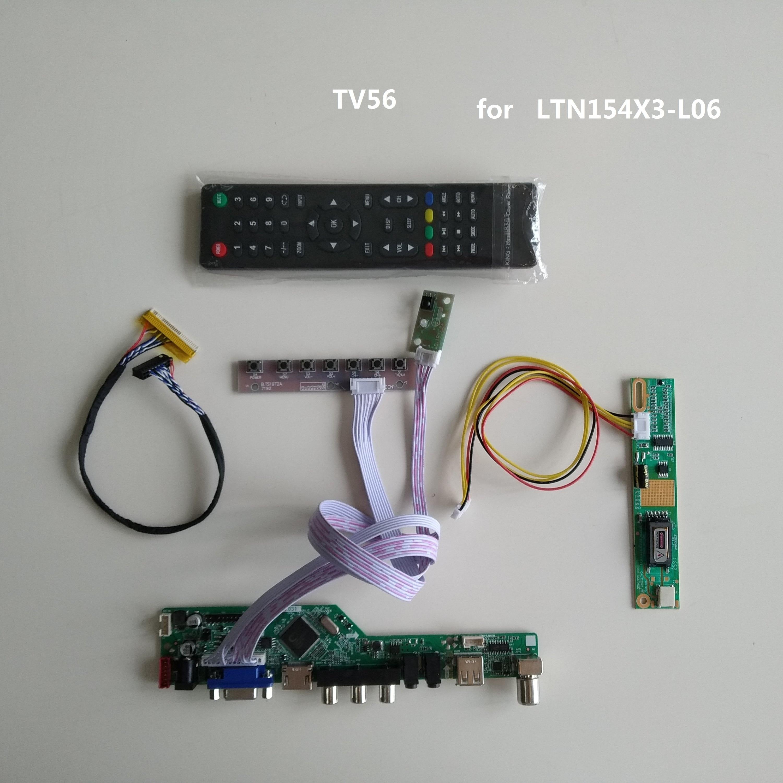 """HDMI+DVI+VGA LCD Controller Board Driver For LTN154P1 1680*1050 15.4/"""" Monitor"""