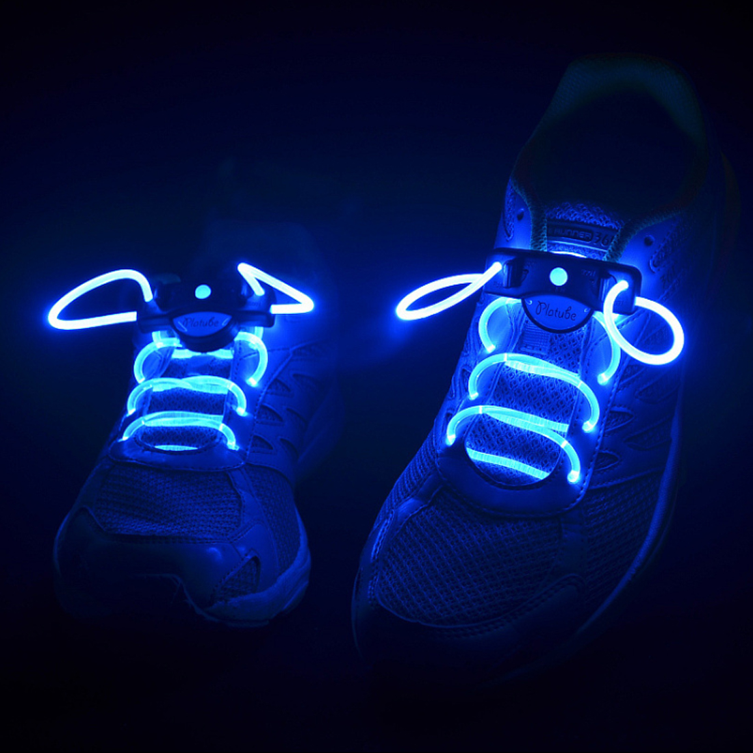 Hot! 2pcs! Fashion LED Shoelaces Shoe Laces Flashing Light Up Glow Stick Strap Neon Shoe Strings Luminous Laces Disco Party