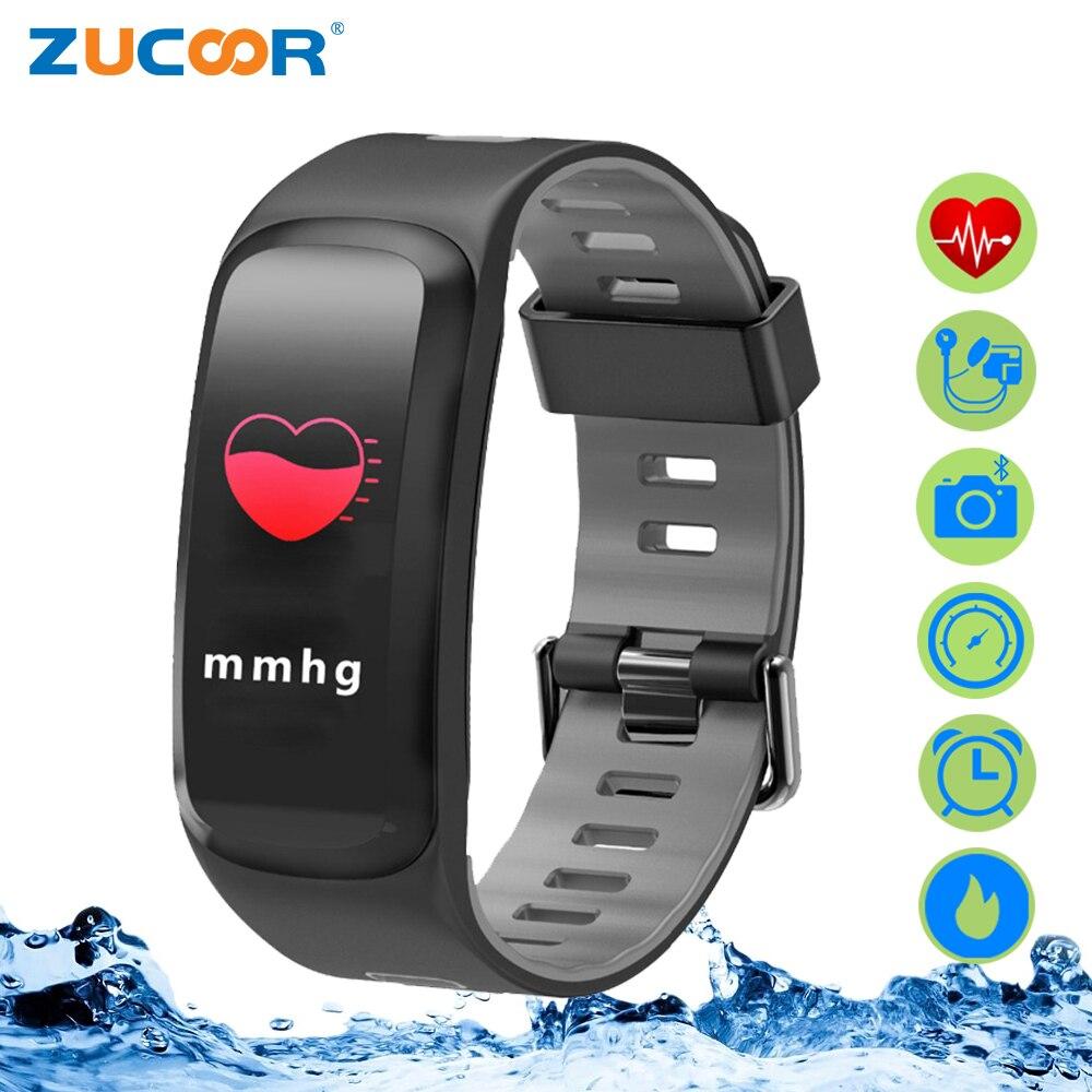 ZUCOOR Smart Bracelet Cardiaco Moniteur Tonomètre Fitness Bracelet Bande RB75 Écran Tactile Pulse Dispositifs Portables Poignet Anneau Montre
