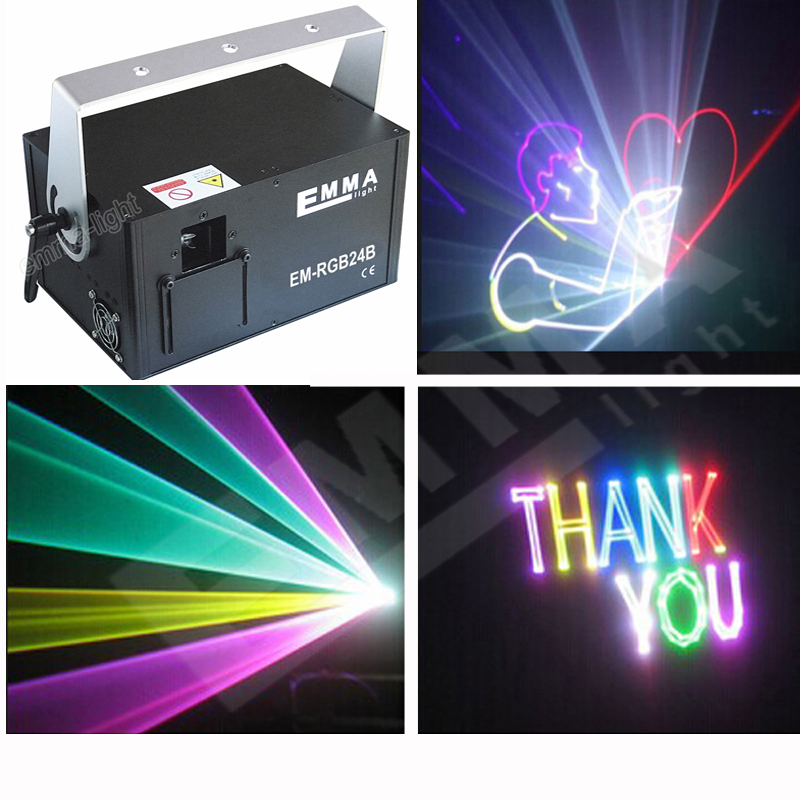 1.5w Rgb Laser Beam And Animation ,dmx ,party Light/ktv Light/laser Projector/stage Lights/emma Laser Show Let Our Commodities Go To The World