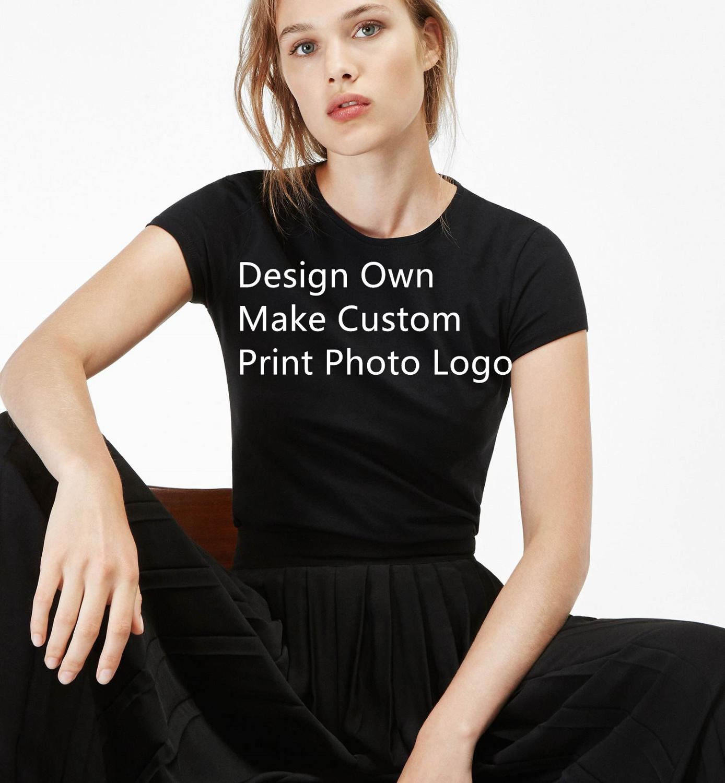 2019 Summer Mixed Color T Shirts Women Casual Short Sleeve Shirt Tops Tees Design Own T-shirt Make Custom Print Photo Logo For