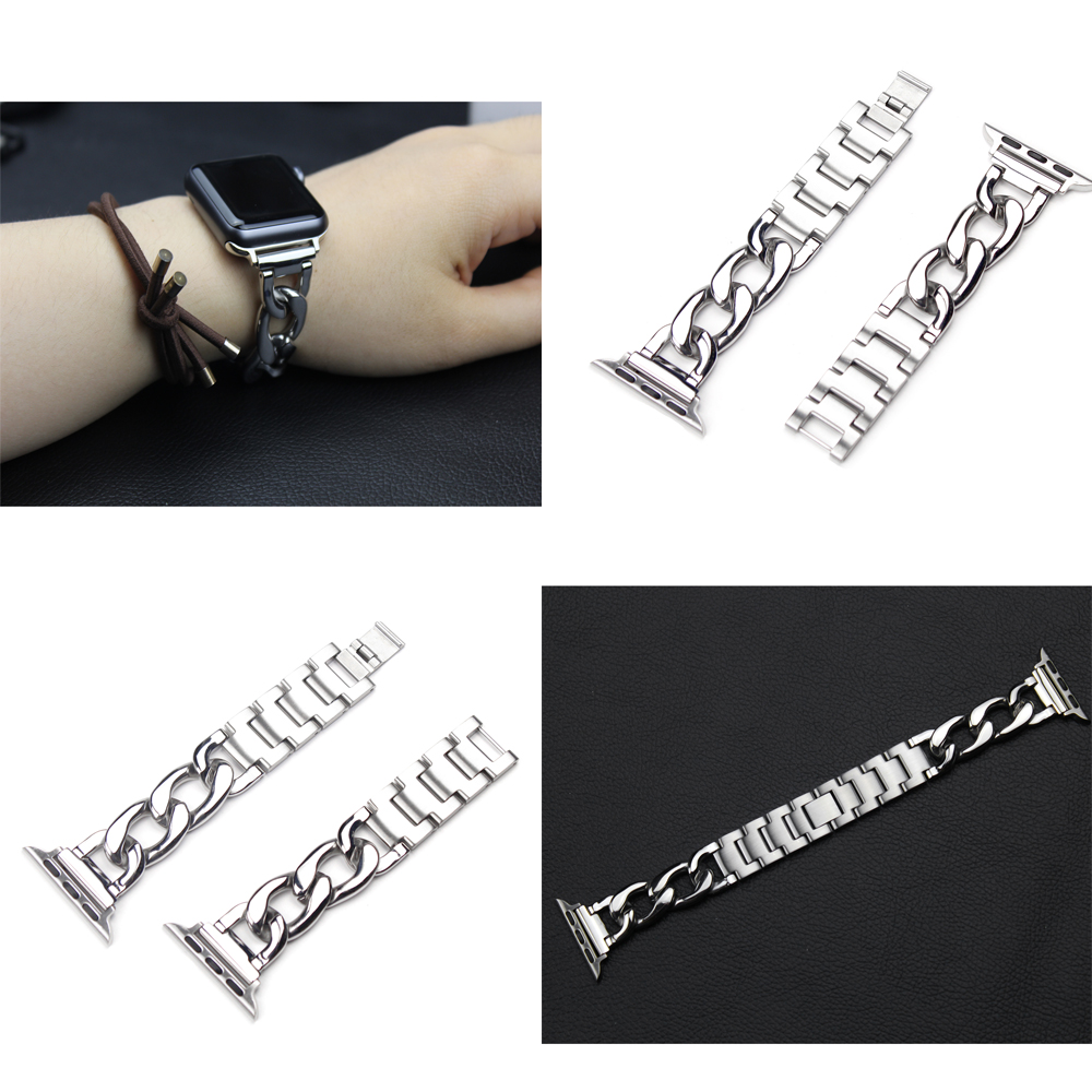 2017 the newest Excellent watchbands for iwatch apple watch Strap Link Bracelet Accessories 38mm and 42mm