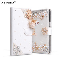 ASTUBIA Case For Blackview A7 Pro Case Cover Filp Luxury Rhinestone PU Leather Phone Case For