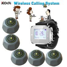 Bezprzewodowy klienta wywołania kelner wywołanie systemu aby wejść na link szpitala który pojawia restauracja bezprzewodowy zegarki na rękę otrzymać telefon zwrotny od usługi otrzymać telefon zwrotny od klienta tanie tanio Ycall K-300plus+K-M-Grey Wireless customer calling system 433 92mhz rechargeable 500PCS button in max in one time when stand-by