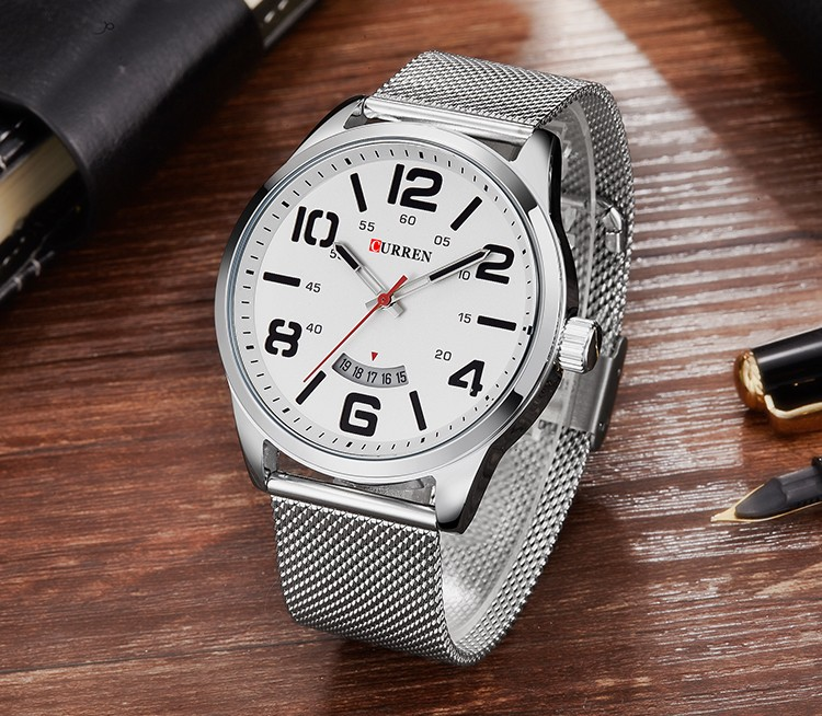 CURREN Watches Men Fashion Casual Quartz Display Date Clock Leather Strap Man Sports Wristwatch Waterproof Male Clock 8236