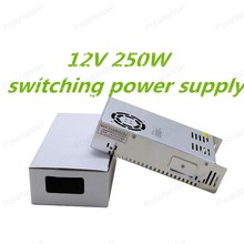 Best quality 250W 12V Switching Power Supply Driver for LED Strip AC110V 240VInput to DC free shipping