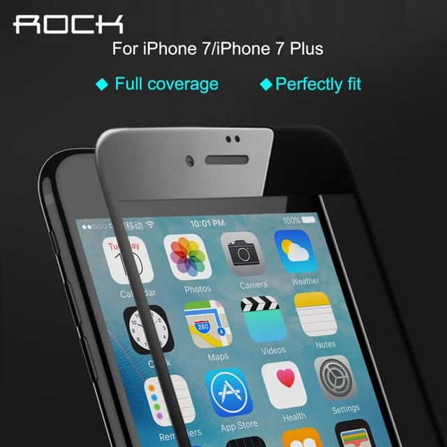 Rock for iphone 7/7 plus pantalla completa de vidrio templado ultra delgada 0.3mm 9 h 2.5d protector de pantalla completa para apple iphone 7 plus