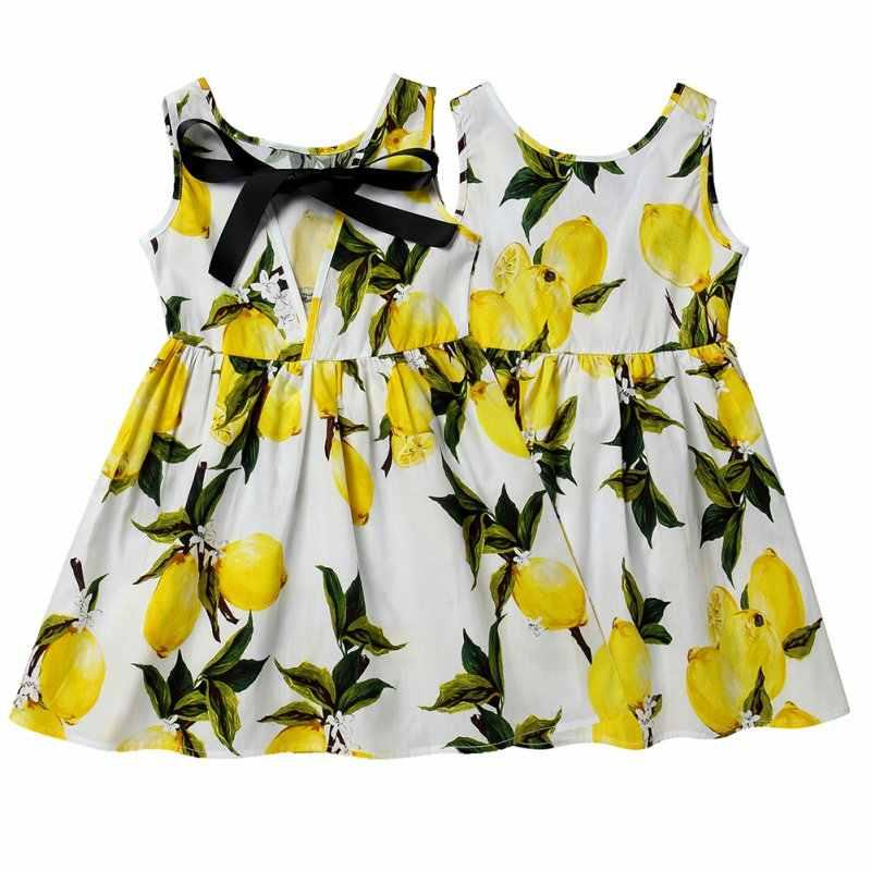 Летнее милое детское платье для девочек; милое детское платье из хлопчатобумажной смеси с принтом; одежда; Vestidos; детская одежда с рукавами для подростков
