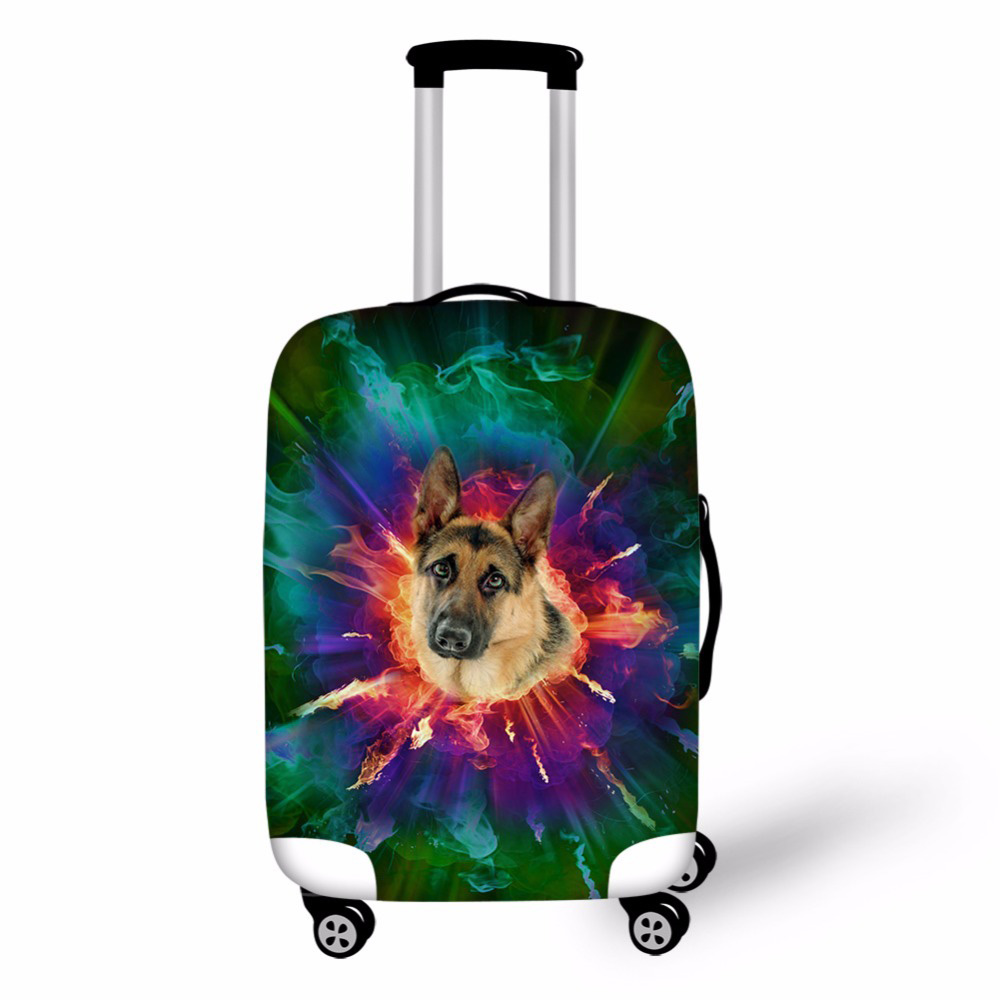 Noisydesigns чемодан Футляр тележки чемодан защитная крышка для 18-30 дюймов дорожные аксессуары собака хаски Чемодан крышка