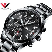 Relogio Masculino NIBOSI Для мужчин s часы лучший бренд класса люкс Часы известных брендов Для мужчин Водонепроницаемый Нержавеющаясталь спортивные часы для Для мужчин
