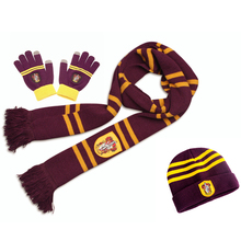 Поттер шарф Гриффиндор/Слизерин/Hufflepuff/Ravenclaw шарф+ шапка/галстук/сенсорная перчатка шарф мягкий теплый рождественский подарок