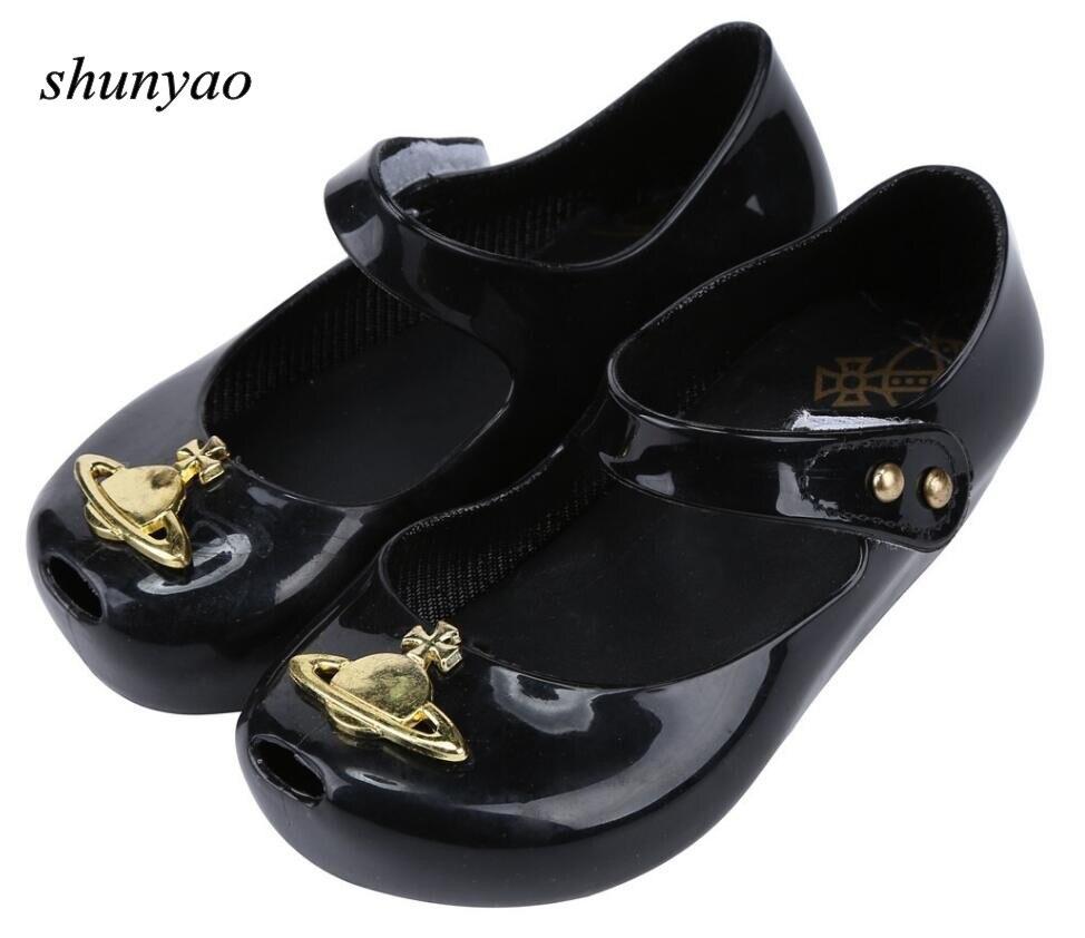 Melissa New Summer Baby Girls Sandals Shoes Saturn Uranus Children Jelly Shoe Candy Soft Princess Girl Fish Head Sandals