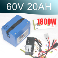 Литиевая аккумуляторная батарея 60 V 20Ah Электрический велосипед аккумулятор 60 V для мотора 2000 W