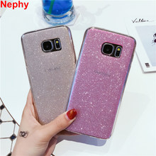 Nephy Phone Case For Samsung S6 S7 Edge S8 S9 Plus J3 J5 J7 2016 A3 A5 A7 2017 Grand Prime Cover Glitter Shine Soft TPU Silicone(China)