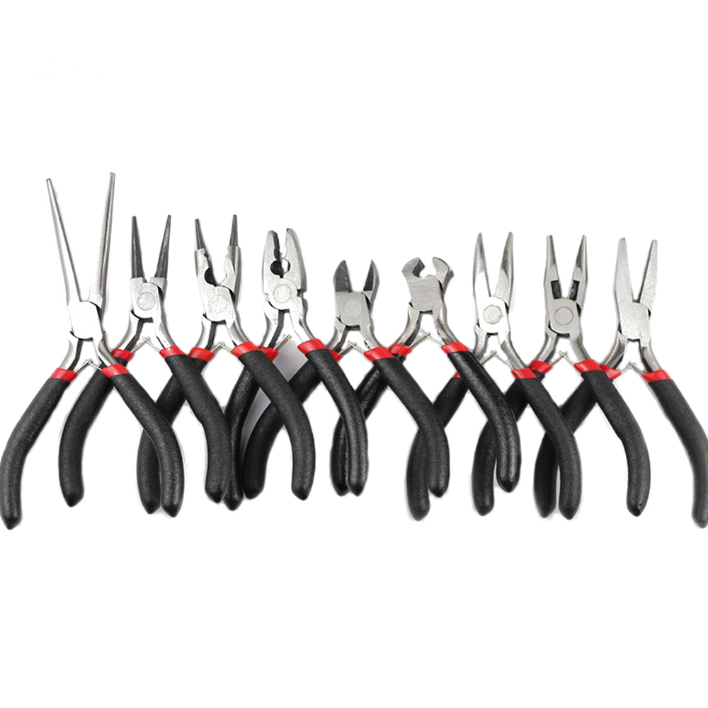JHNBY Jewelry Pliers Tools Kit 4.5'' Mini Long Needle Round Nose Cutting Wire Pliers For Jewelry Making Handmade Accessories DIY