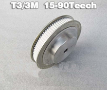 HTD3M 90Teeth Pitch 3mm Bore 8mm Synchronizing wheel Timing Pulleys for Stepper Servo motor ROBOTIC 3D Printer