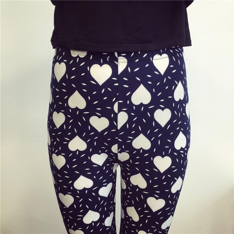BIVIGAOS Spring Summer Womens Fashion Black Milk Thin Stretch leggings Colored Stars Graffiti Slim Skinny Leggings Pants Female 63