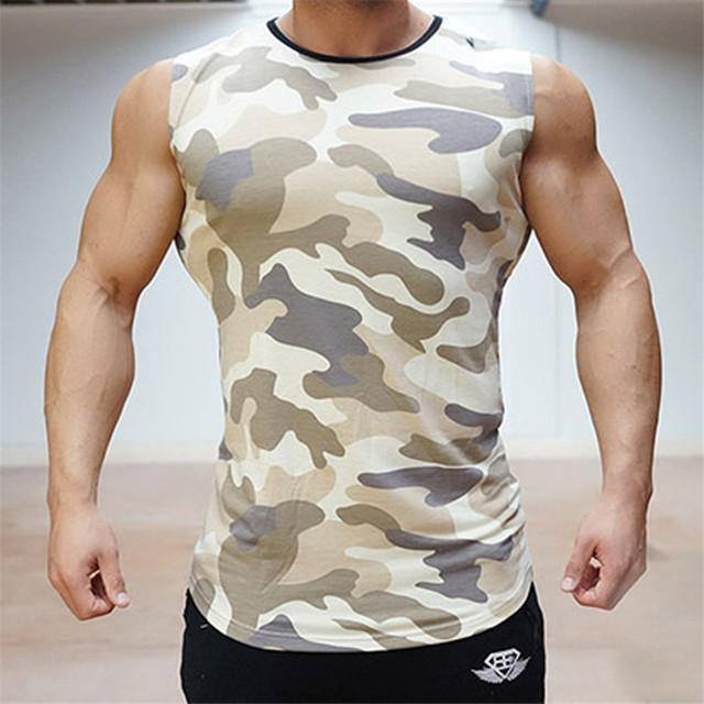 Parte Superior do tanque Dos Homens 2016 Camisa Sem Mangas Musculação Aptidão Longarina Muscular Singlets Roupas de Secagem rápida dos homens Slim Fit