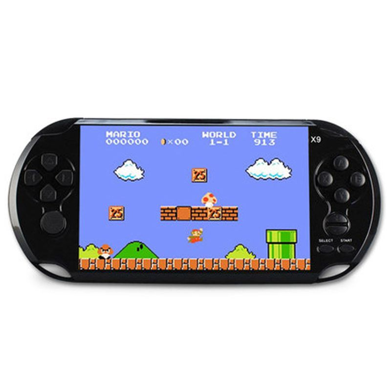 Powkiddy Retro Handheld Game Controller 8GB 5.1 Inch Screen Classic Games AV Output TV Video Game Console Support Movie Camera-in Handheld Game Players from Consumer Electronics