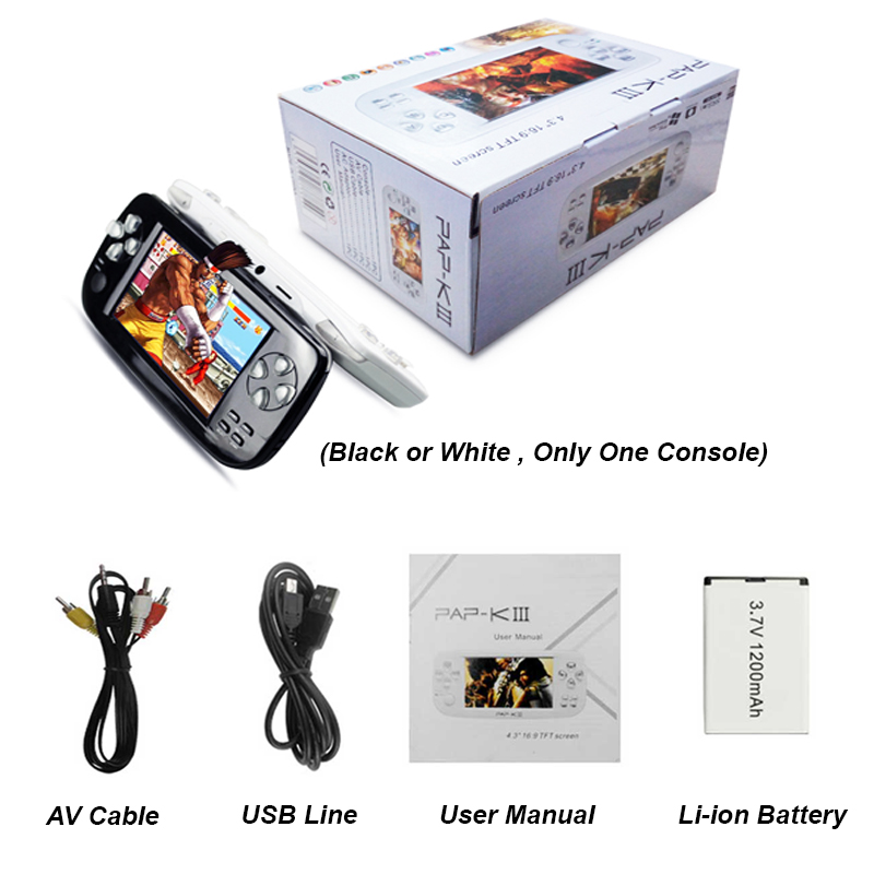 Portable HD Handheld Video Game Console With 3000 Built in Games 5